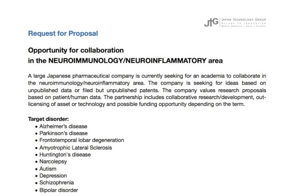 RFP Neuroimmunology 2018