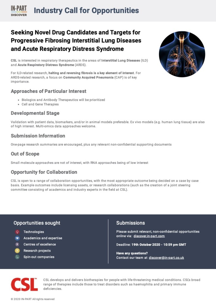 Seeking Novel Drug Candidates and Targets for Progressive Fibrosing Interstitial Lung Diseases and Acute Respiratory Distress Syndrome