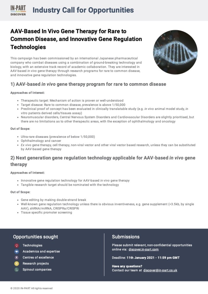 AAV-Based In Vivo Gene Therapy for Rare to Common Disease, and Innovative Gene Regulation Technologies